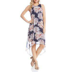 Karen Kane Etched Lotus Hi-Low Hem Dress